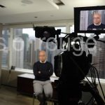 hire three-person film crew for interview. prompter in hong kong and china