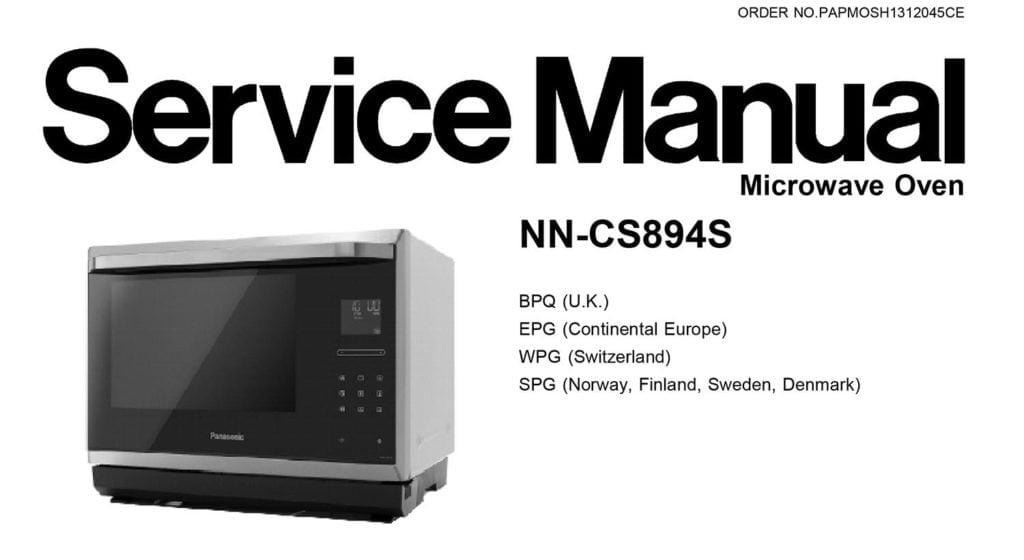 repair Panasonic NN-894s service manual diy